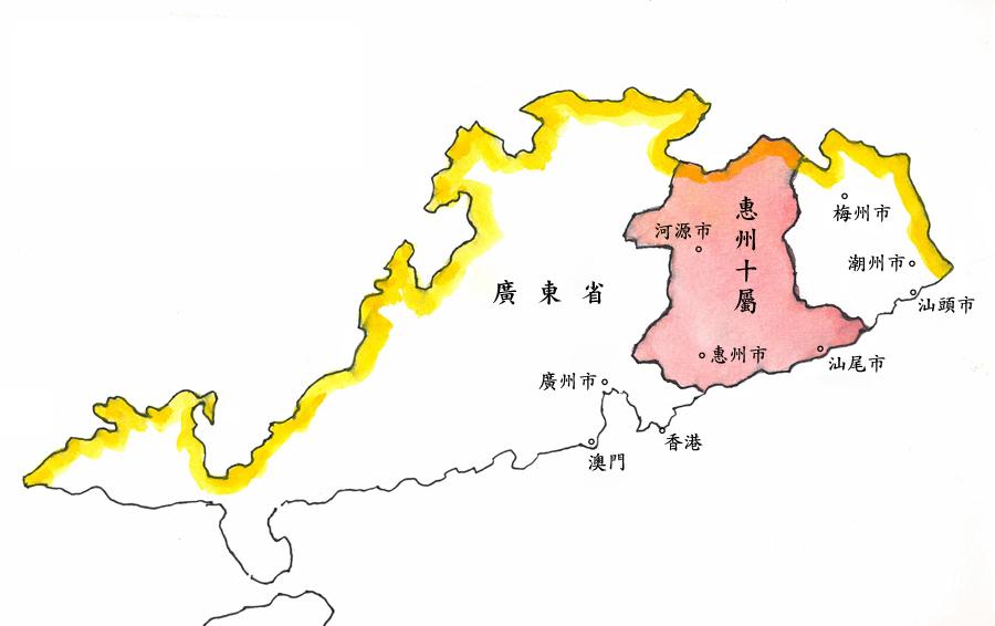 惠州十屬地理圖